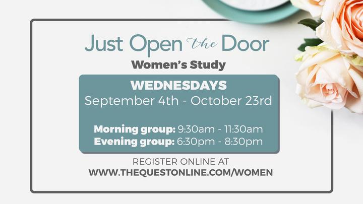 """Women's Fall Bible Study - """"Just Open the Door"""" logo image"""