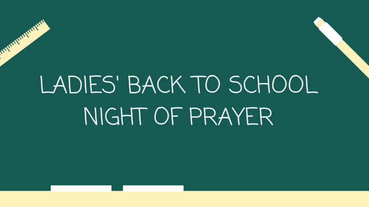 Ladies' Back to School Night of Prayer  logo image