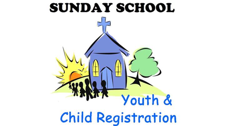 2019-2020 Children & Youth Sunday School Registration logo image