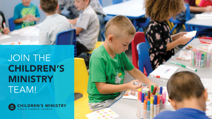Join the Children's Ministry Team logo image