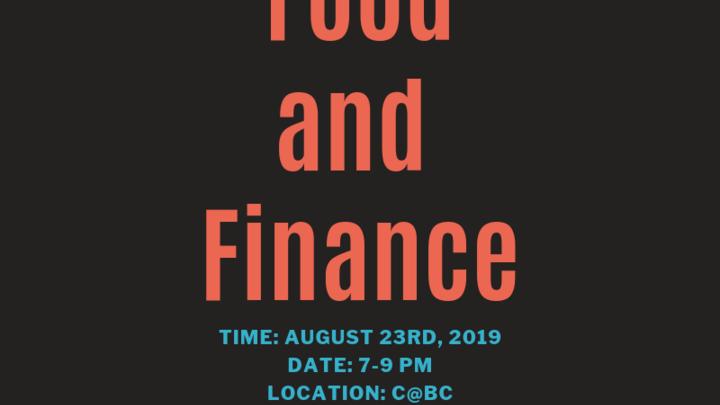 Men's Event: Food & Finance  logo image