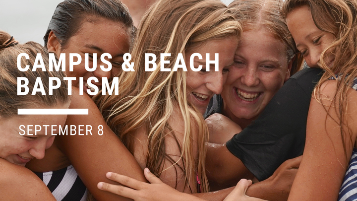 Campus & Beach Baptism - September 8, 2019 logo image