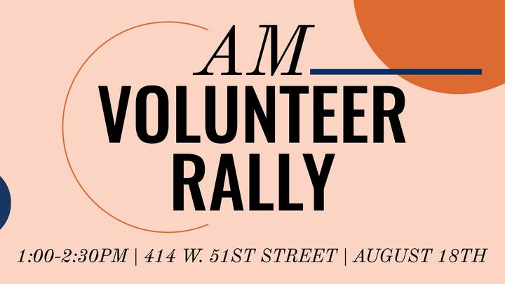 AM Volunteer Rally logo image