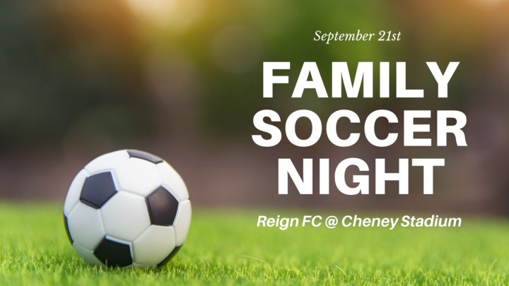 Family Night at Cheney Stadium - The Reign FC Soccer Match logo image