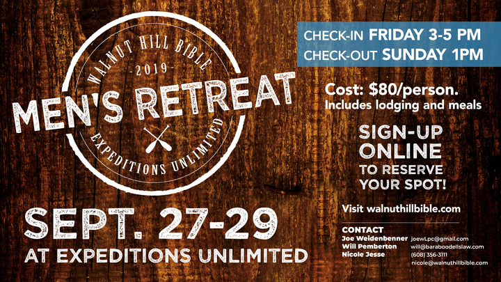 2019 Men's Fall Retreat at Expeditions Unlimited logo image