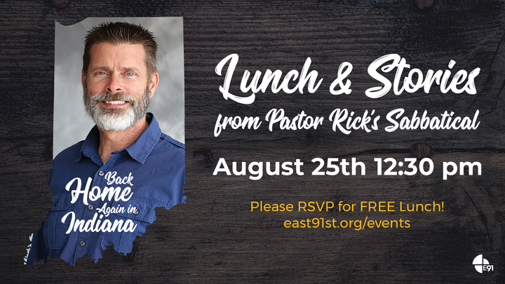 Lunch & Stories from Pastor Rick's Sabbatical logo image