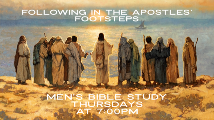 """Men's Growth Group - """"Following in the Apostles' Footsteps""""  logo image"""