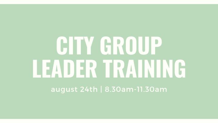 City Group Leader Training logo image