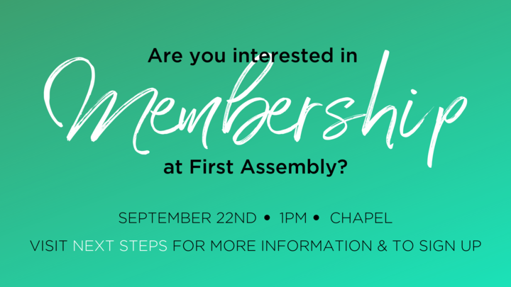Membership Class - September 22nd logo image