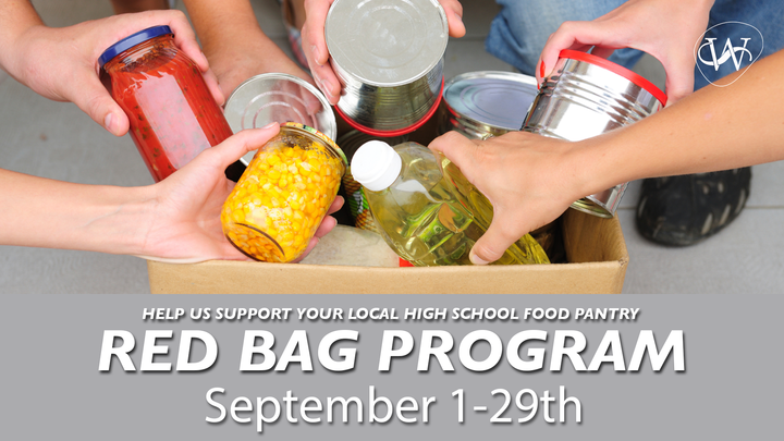 Red Bag Food Drive Month logo image