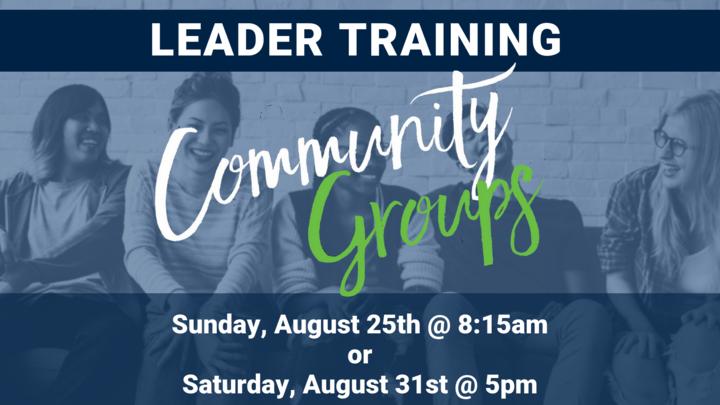 Community Group Leader Training logo image