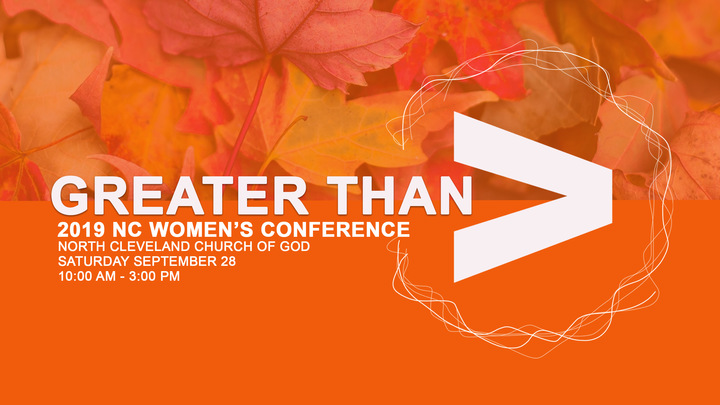 GREATER THAN-2019 NC Women's Conference logo image