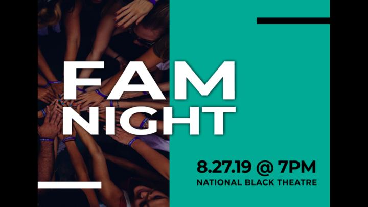 August 2019 FAM Night logo image