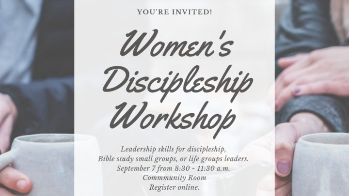 Women's Discipleship Training for small group leaders, life group leaders, and others! logo image