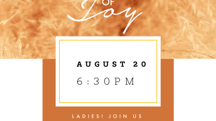 Sisterhood Night of Joy- August logo image