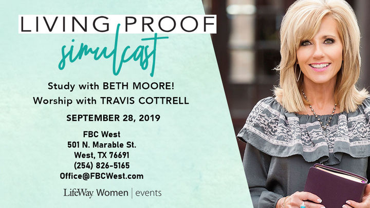 Beth Moore Simulcast at FBC West (lunch included) logo image