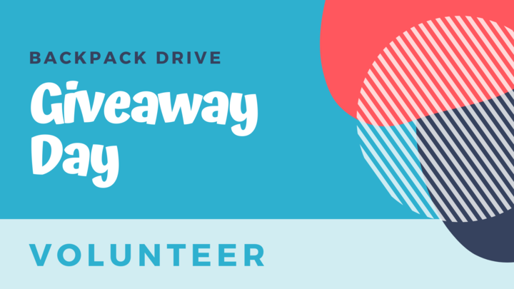 Backpack Drive Giveaway Day Volunteers logo image