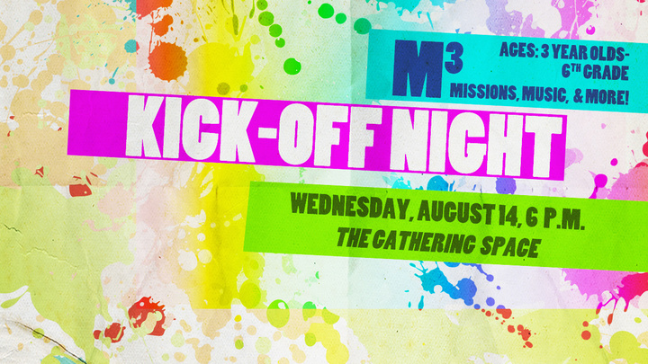 Children's M3 (Missions, Music, & More) Fall Kick-Off Night logo image