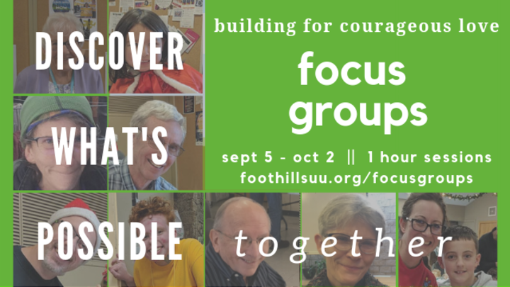 Focus Group Meetings: Building for Courageous Love  logo image