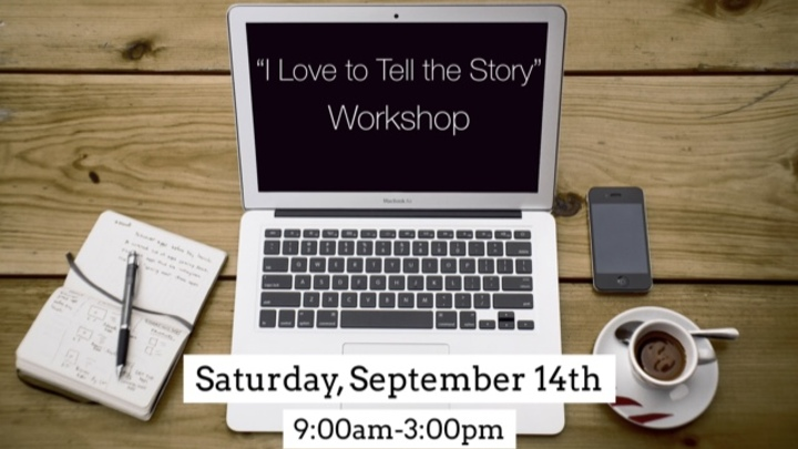 """""""I Love to Tell the Story"""" Workshop logo image"""