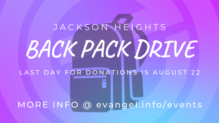 Jackson Heights Back Pack Drive logo image