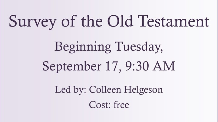 """R.E.A.L. Women """"Survey of the Old Testament: Part 1"""" Led by Colleen Helgeson logo image"""