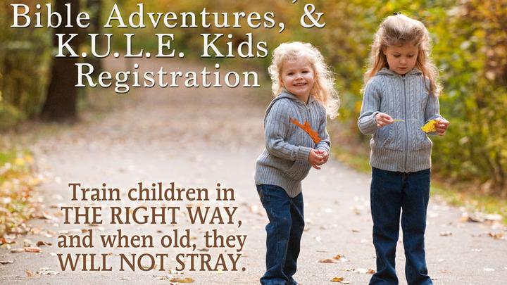 Children's Music, Bible Adventures, & KULE Kids Registration 2019-20 logo image