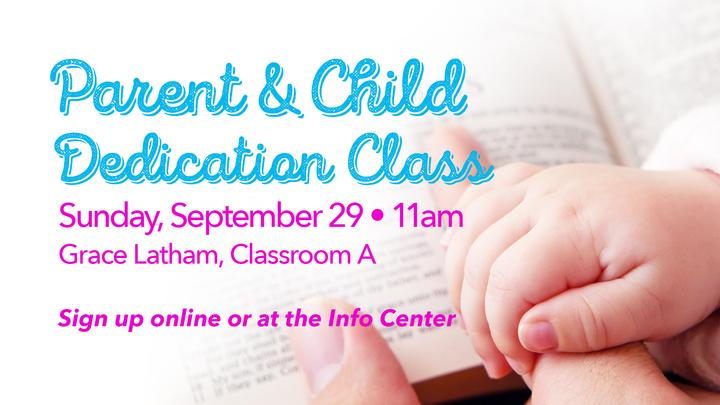 Latham Parent & Child Dedication Class logo image