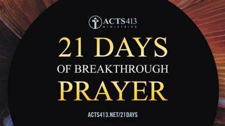 21 Days of Breakthrough Prayer logo image
