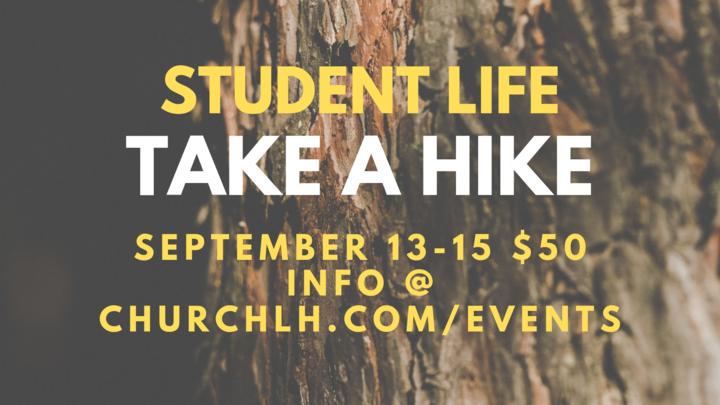 STUDENT LIFE | Take a Hike!  Camping Weekend logo image