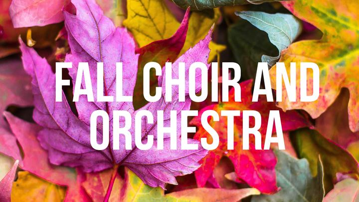 Choir and Orchestra Fall 2019 logo image