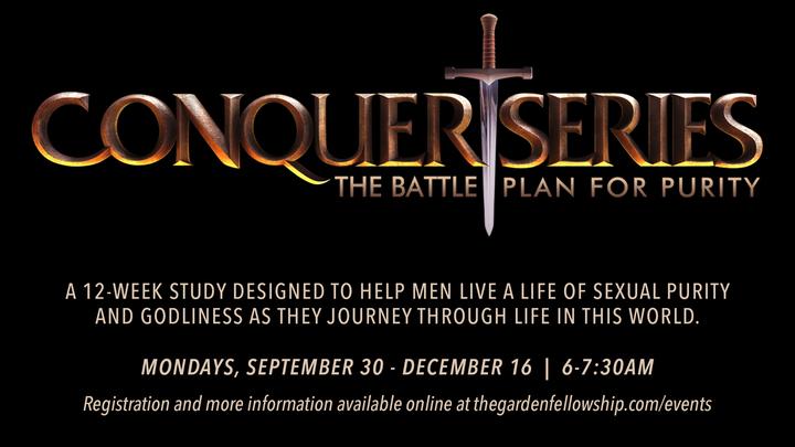 Conquer Series Men's Study | MONDAY AM logo image