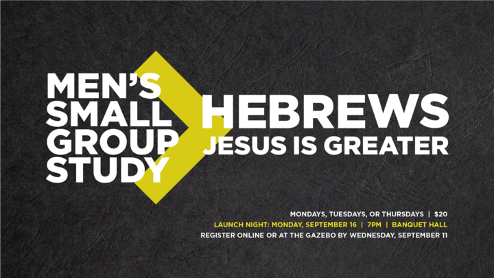 Men's Small Groups - Hebrews logo image