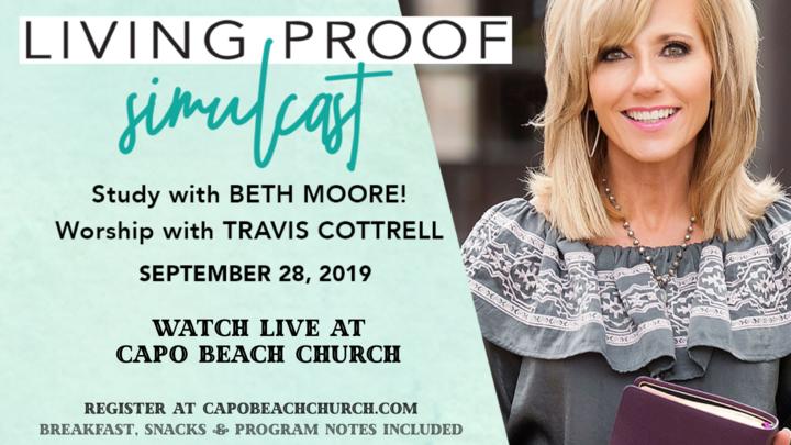 Beth Moore Living Proof Simulcast logo image