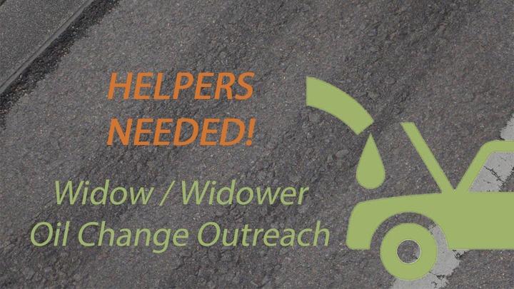 HELPERS NEEDED - Widow / Widower Oil Change Outreach logo image