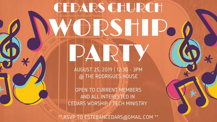 Worship & Tech Party (for current team and interested people as well) logo image