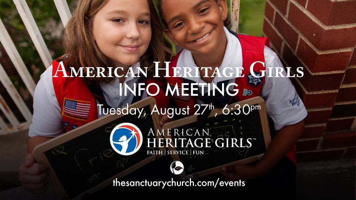 American Heritage Girls Info Meeting logo image