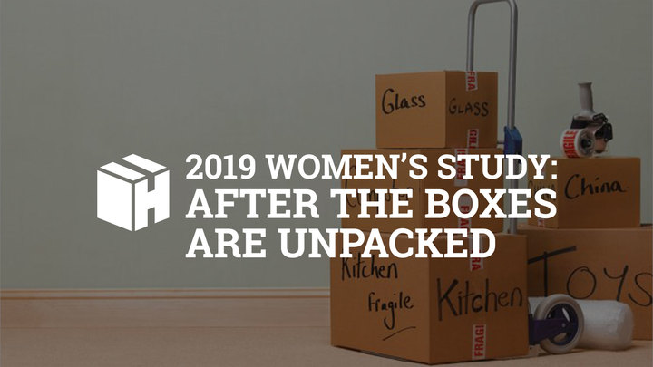 """2019 Women's Study: """"After the Boxes are Unpacked"""" logo image"""