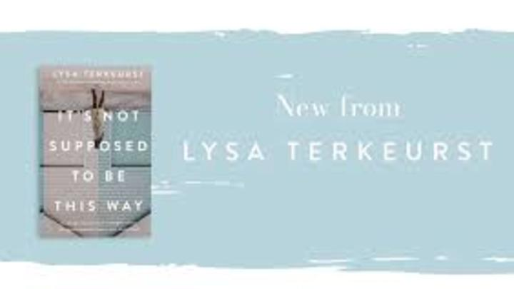 "Wednesday Morning Book Study Lysa TerKeurst ""It's not supposed to be this way."" logo image"