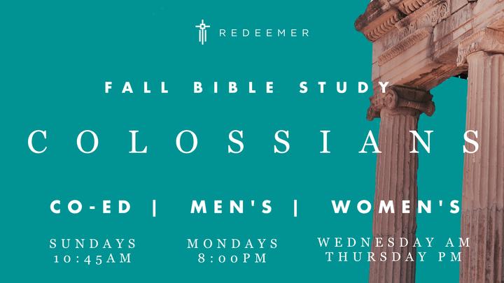 Fall Bible Study: Colossians (Sunday AM - Co-Ed) logo image