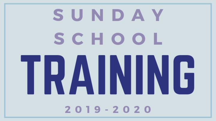 Make-Up Training for Children's Sunday School Volunteers for 2019-20 logo image