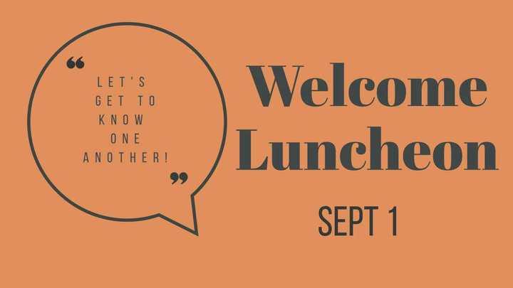 Welcome Luncheon logo image