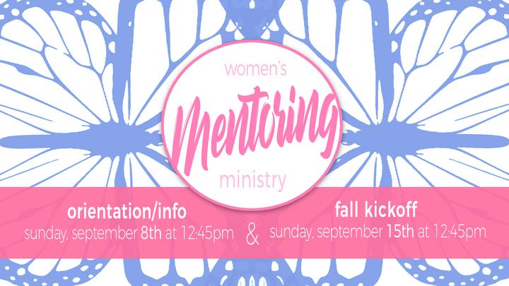 Mentoring Ministry Info Orientation logo image