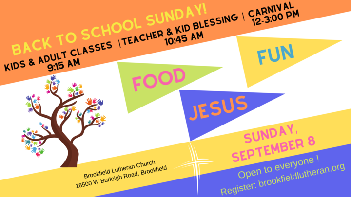 Back to School Sunday Carnival logo image
