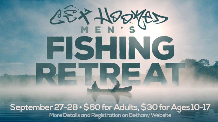 Get Hooked Men's Fishing Retreat logo image
