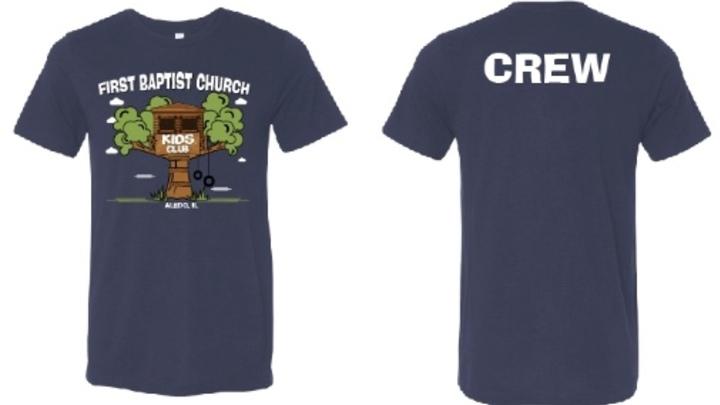 Kids Ministry Volunteer Shirt Order Form logo image