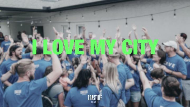 I Love My City logo image