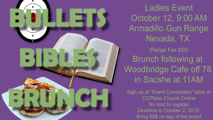 Bullets, Bibles & Brunch - Ladies Event logo image