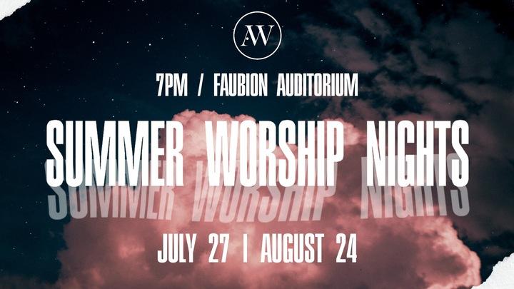 Summer Worship Nights (Registration for childcare only) logo image