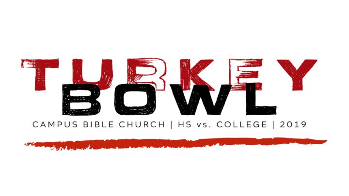 High School vs College Turkey Bowl 2019 logo image